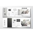 set of tri-fold brochures square design vector image