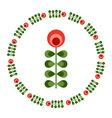 Design elements - round floral frame flower icon vector image
