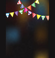 festive background with flags for design vector image