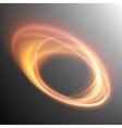 Glowing fire ring trace effect EPS 10 vector image