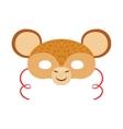 Monkey Animal Head Mask Kids Carnival Disguise vector image