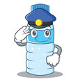 police bottle character cartoon style vector image