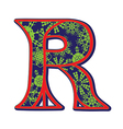 winter letter R vector image