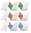 Three origami paper numbered banners vector image vector image