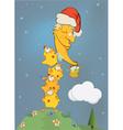 Chickens clean the moon Cartoon vector image vector image