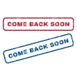 Come Back Soon Rubber Stamps vector image
