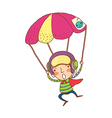 Close-up of boy on parachute vector image vector image