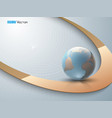 abstract background with globe 2 vector image