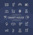 smart house line icons collection vector image vector image