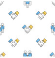 Seamless pattern with business people vector image