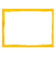 Yellow grunge frame vector image vector image