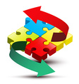 Puzzle and Arrows vector image vector image