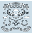 Laurel wreath set Decorative elements vector image
