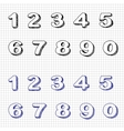 Hand-drawn Numbers Doodles Set 2 Sketch vector image