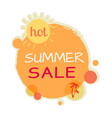 hot summer sale round banner best quality price vector image