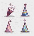 line set hat happy birthday celebration icon vector image