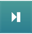 Next track web icon Media player vector image