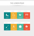set of 8 editable structure icons includes vector image