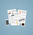 Job profiles vector image