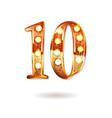10th golden anniversary logo vector image