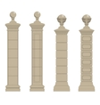 set of column 3 vector image