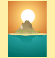 paradise desert island vector image