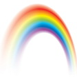 colorful rainbow shining blurred vector image