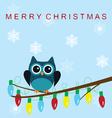 owl snow family lights vector image