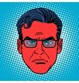 Retro devil Emoji emotion face man vector image
