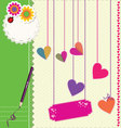 Cute Love background vector image