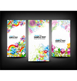 colorful banners set vector image vector image