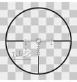 sniper black finder target vector image