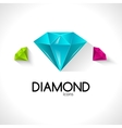 Diamond icons business background vector image