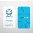 Abstract Logo with Business Card Template vector image