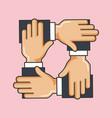 charity crossed arms team work help vector image
