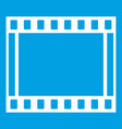 film with frames movie icon white vector image