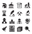 history archaeology icons vector image