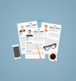 Job profiles vector image