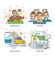 recruiting career growth team business online vector image