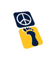 step to peace symbol icon vector image