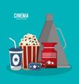 cinema movie style icons vector image