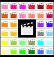 film clap board cinema sign  felt-pen 33 vector image