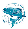 salmon and bait for fishing vector image vector image