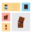 flat icon bitter set of sweet dessert wrapper vector image