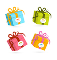 Present Boxes Isolated on White Background vector image vector image