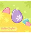 Easter greeting decorative postcard vector image
