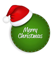 Green Speech Bubble With Santa Hat vector image