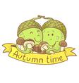 Fall season banner vector image vector image