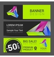 abstract bright business card banner design vector image