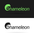 Chameleon label vector image